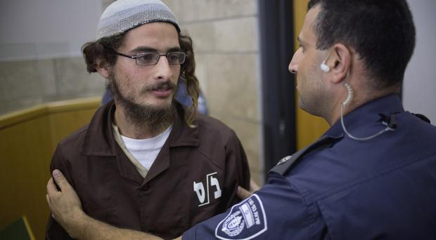 Head of a Jewish extremist group Meir Ettinger appears in court in Nazareth Illit