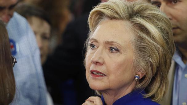 Democratic presidential candidate Hillary Clinton has given her private email server to the Justice Department (AP)