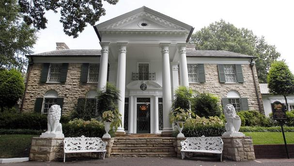 More than 100 artefacts were up for auction during Elvis Week at Graceland (AP)