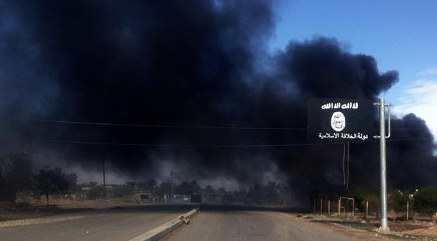 The strikes hit a hospital in Islamic State-held territory in Iraq. (AP)