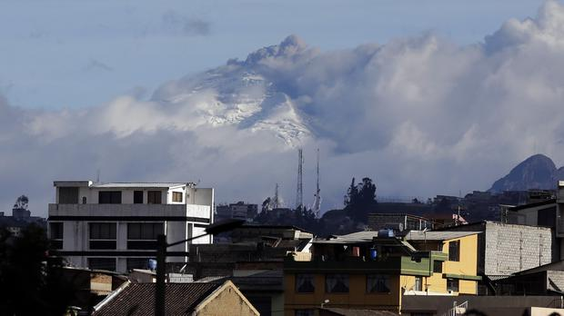 The Cotopaxi volcano spews ash and vapour (AP)