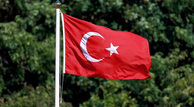 Kurdish rebels have detonated a bomb on a road in south east Turkey, killing at least eight soldiers.