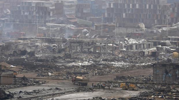 More than 100 people were killed in the blasts in Tianjin (AP)