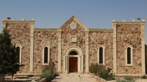 The Saint Eliane Monastery near the town of Qaryatain in Homs province, Syria (Islamic State militant website via AP)