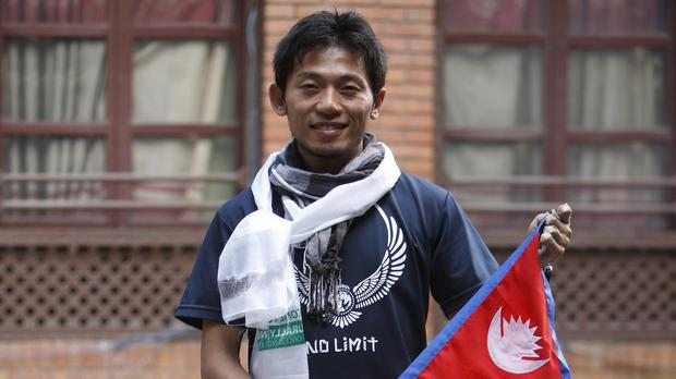 Japanese climber Nobukazu Kuriki will be the first to attempt to scale Everest since the mountain was closed following an avalanched which killed 19 people in April (AP)