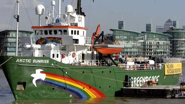The Greenpeace ship Arctic Sunrise was seized by Russian authorities in September 2013