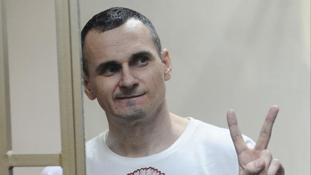 Oleg Sentsov has been jailed in Russia for 20 years. (AP)
