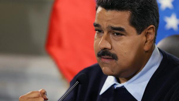 Nicolas Maduro has vowed to continue with Venezuela's crackdown on its border with Colombia. (AP)