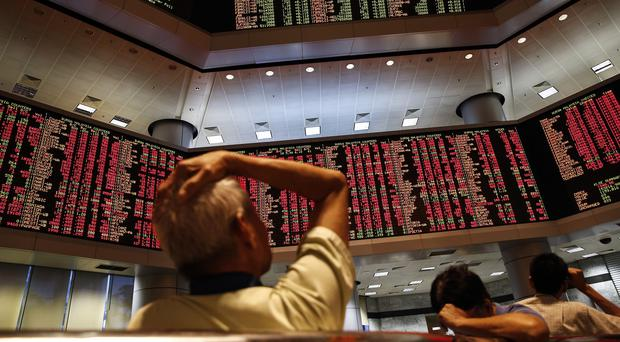 Investors looked set for another white-knuckle day as Chinese, Hong Kong and Japan shares dipped in and out of negative territory