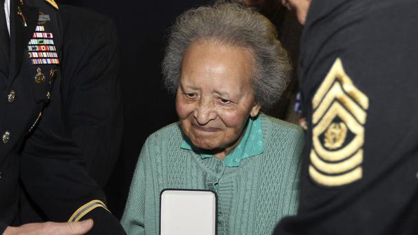 Augusta Chiwy helped save hundreds of lives during the Battle of the Bulge. (AP)