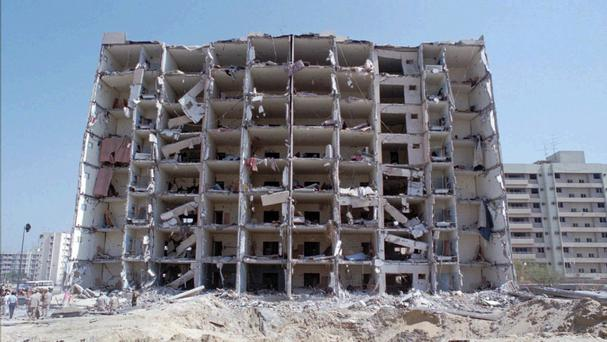 Khobar Towers was destroyed in 1996. (AP)