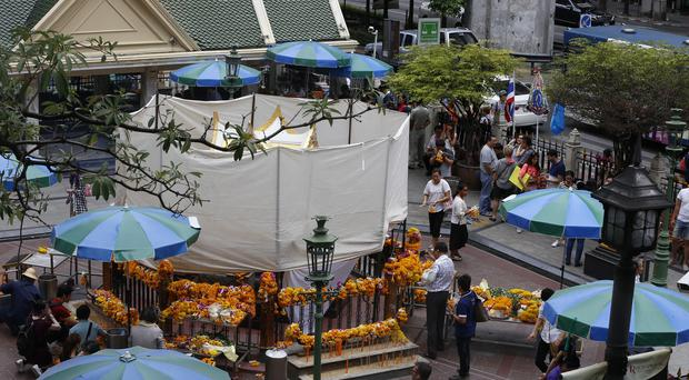 20 people were killed in the explosion at the Erawan Shrine. (AP)