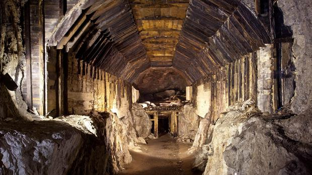 Part of a subterranean system built by Nazi Germany in Gluszyca-Osowka, Poland. (AP)