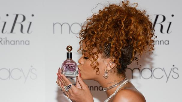 Singer Rihanna at her fragrance launch at Macy's in Brooklyn (AP)