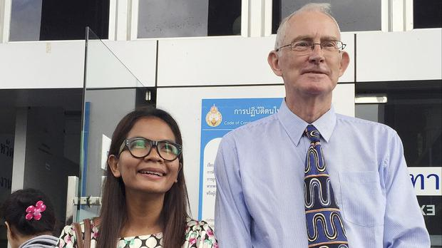 Chutima Sidasathien and Alan Morison were accused of offences under the Thai Computer Crimes Act (AP)