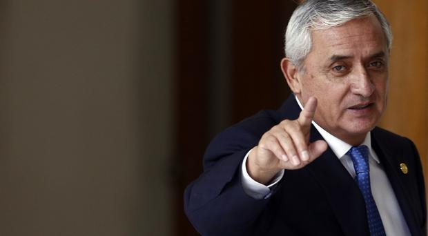 President Otto Perez Molina, who has been ordered to be detained over a corruption scandal (AP)
