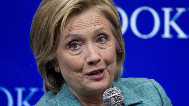 Hillary Clinton has offered a subtle critique on Barack Obama's foreign policy (AP)