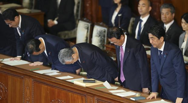 Japan's parliament approved the law regarding the military (AP)
