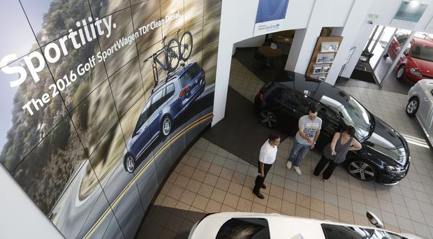 A Volkswagen dealership in Glendale, California (AP)