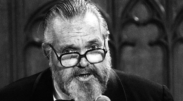Orson Welles, pictured aged 68 - he wrote, directed and acted in Citizen Kane when he was 25