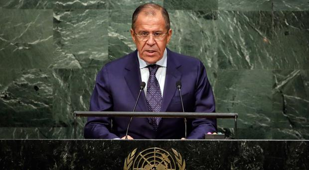 Sergey Lavrov listed countries with a key role to play in resolving the chaos in Syria (AP)