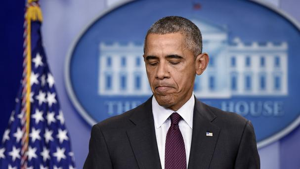 President Barack Obama speaks about the shooting at the community college in Oregon. (AP)