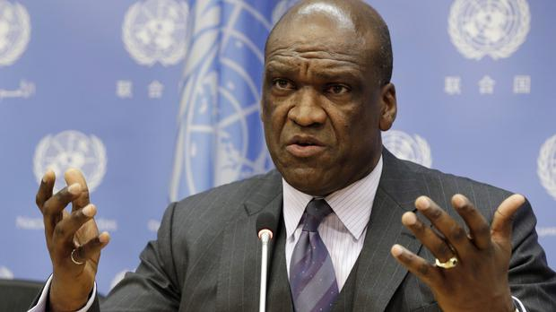 John Ashe was formerly the president of the UN General Assembly (AP)