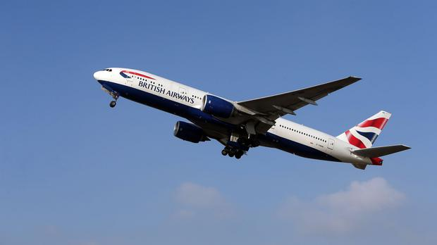 A British Airways Boeing 777 caught fire taking off from McCarran International Airport in Las Vegas