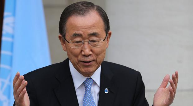 Ban-Ki moon called hunger