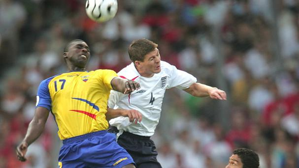 Action from England's game against Ecuador at the 2006 World Cup