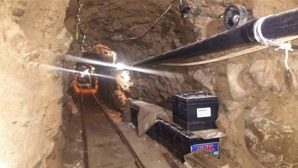 An underground tunnel that police say was built to smuggle drugs from Tijuana to San Diego (Mexico Federal Police via AP)