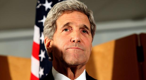 John Kerry made the announcement after meeting in Jordan's capital