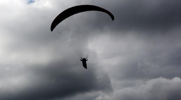 A man apparently used a paraglider to cross from Israel to Syria