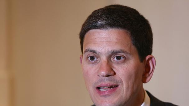 Former foreign secretary David Miliband now heads the International Rescue Committee (AP)