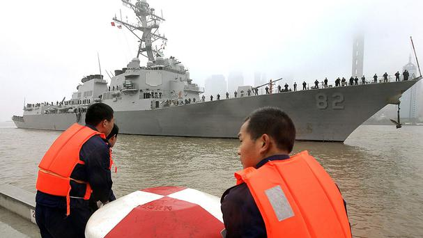 China's foreign ministry said authorities warned the USS Lassen as it entered a territorial limit in the Spratly Islands (AP)
