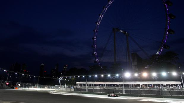 The man had entered the track at the Marina Bay circuit in central Singapore
