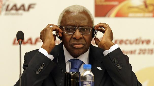 Lamine Diack stepped down from the IAAF in August (AP)