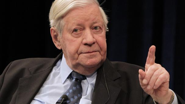 Former German chancellor Helmut Schmidt has died aged 96 (AP)
