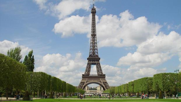 A spokeswoman for the Eiffel Tower said the monument did not open as a security precaution