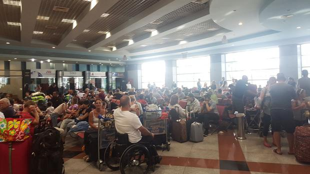 Tourists stranded at Sharm el-Sheikh airport after fears that a Russian plane crashed because of a bomb on board