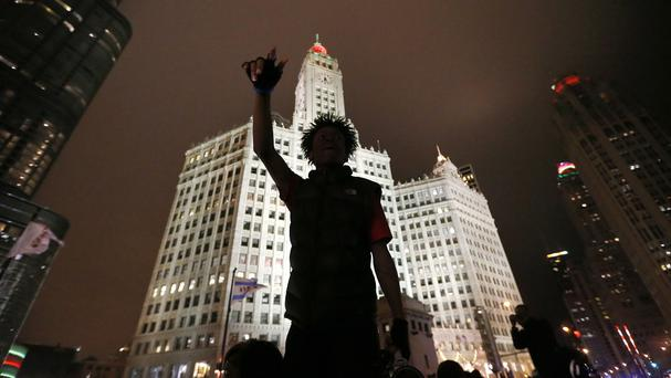 Protests in Chicago over the killing of 17-year-old Laquan McDonald (AP)