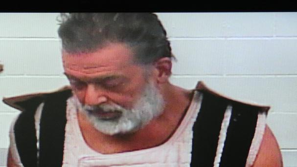 Robert Dear makes his first court appearance via a video link (The Gazette/AP)