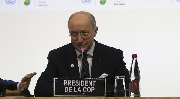 Laurent Fabius, president of the climate talks, said there has been