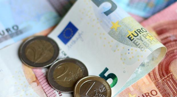 The euro dropped 0.4% to $1.0596 yesterday, after sliding 5.5% since the end of August.