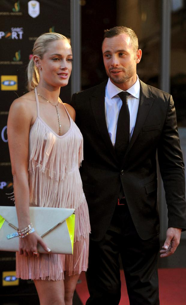 Reeva and Pistorius in 2012