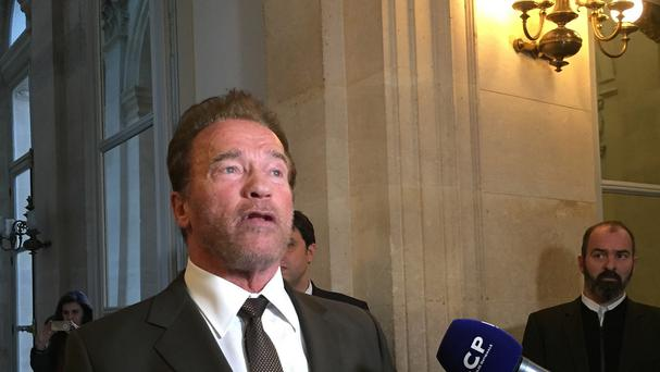 Former California Governor Arnold Schwarzenegger in Paris