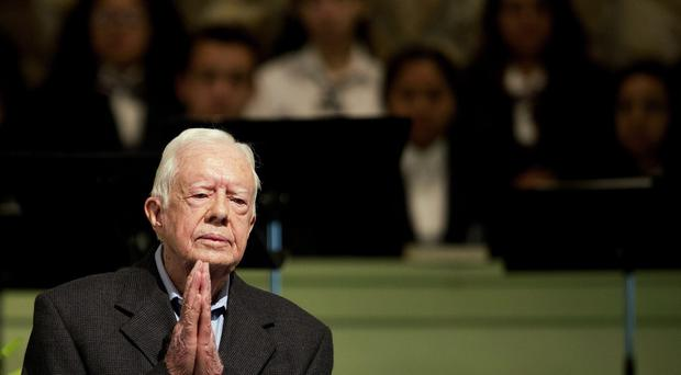 Jimmy Carter teaches a Sunday School class at Maranatha Baptist Church in Plains, Georgia. (AP)