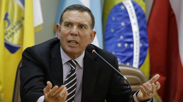 Juan Angel Napout is said to have received bribes worth millions of dollars from Copa America broadcasting rights (AP)