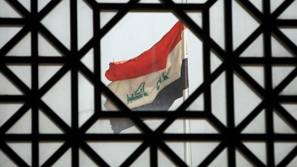 The bombing occurred at border security in the town of al-Nukhayb in Iraq's Anbar province