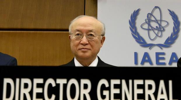 Yukiya Amano, director-general of the International Atomic Energy Agency, waits for the start of the IAEA board of governors meeting in Vienna (AP)